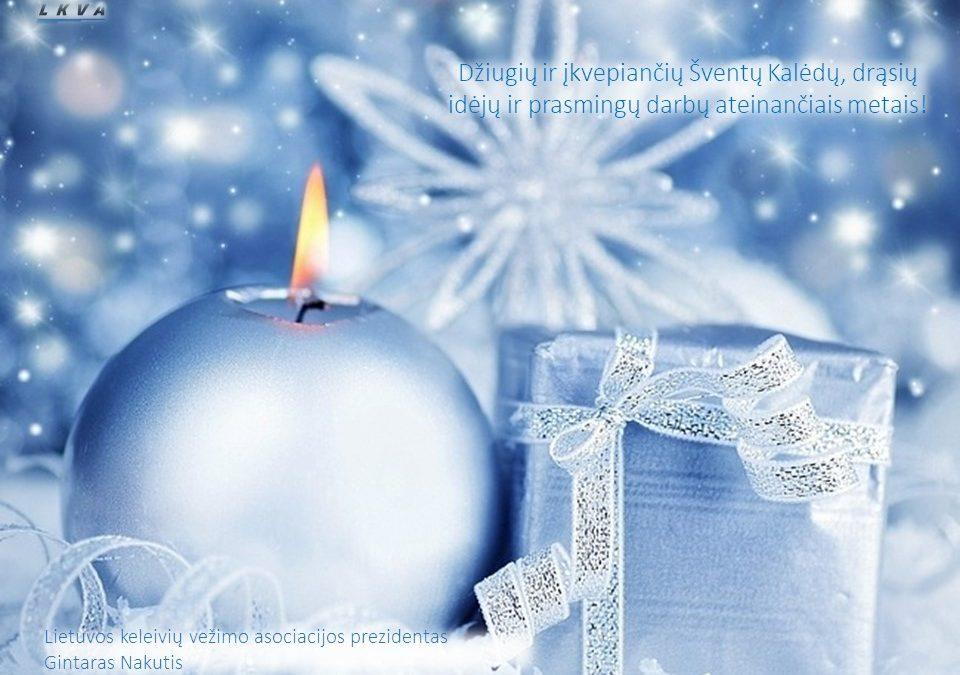 Jaukių Šv.Kalėdų ir sėkmingų ateinančių Naujųjų metų!