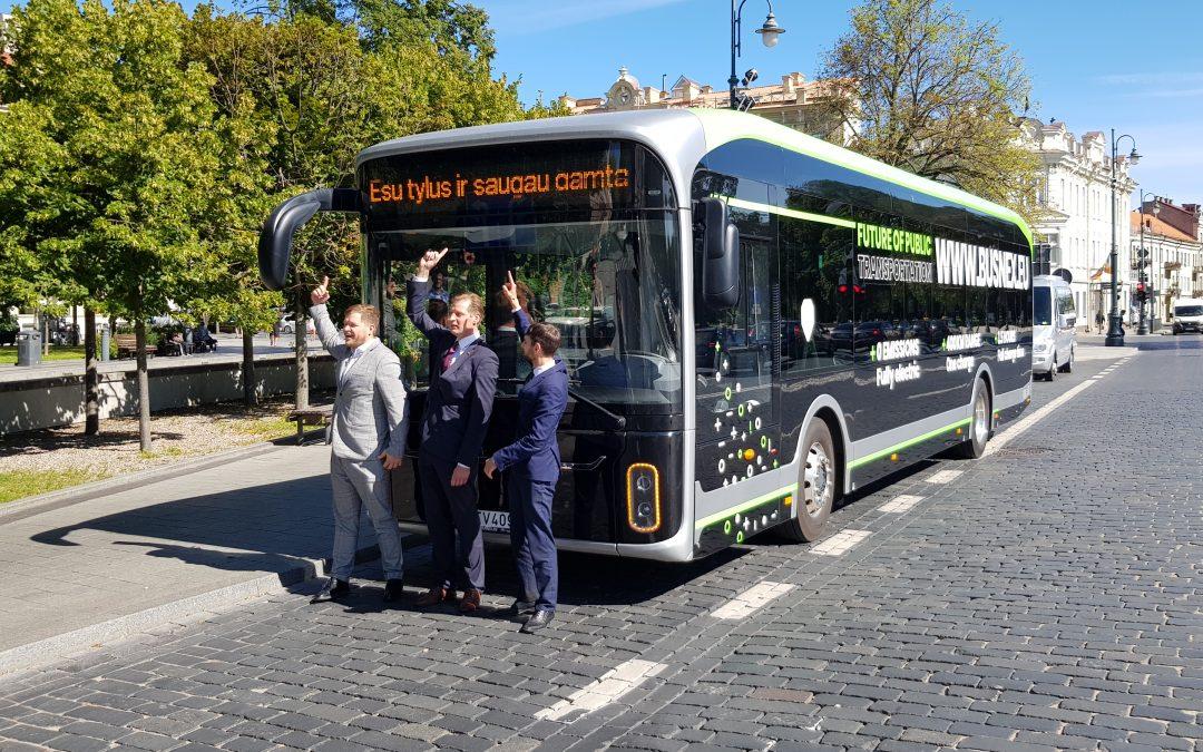 Yutong elektrinis autobusas demonstruotas Aplinkos ministerijos vadovams