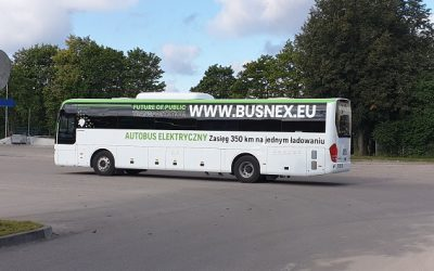 Klaipėdiškiai pirmieji Lietuvoje išbando elektrinį tarpmiestinį autobusą