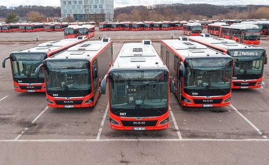 Kauno gatvėse -visas šimtas naujųjų autobusų